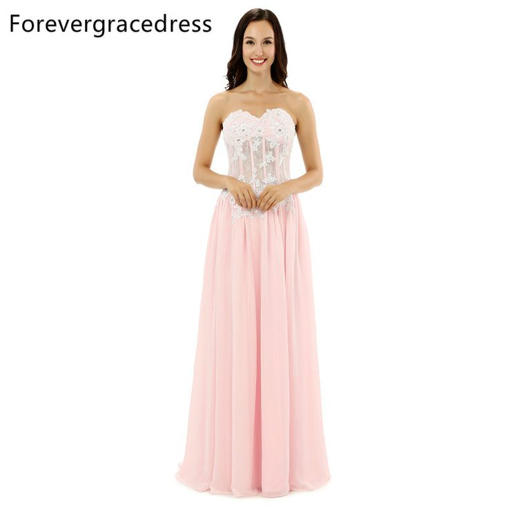Forevergracedress Real Sample Chiffon Evening Dress High Quality A Line  Sweetheart Backless Long Formal Party Dress Plus Size  Affiliate  707bd1b4c5ea