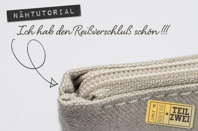 Anleitung Reißverschluß einnähen ohne Knubbel von Stich & Faden, Teil 2