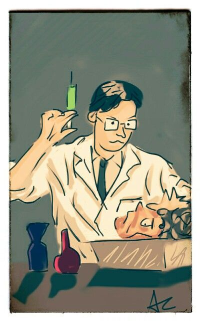 Digital drawing done from google nexus 7, scene is from Reanimator