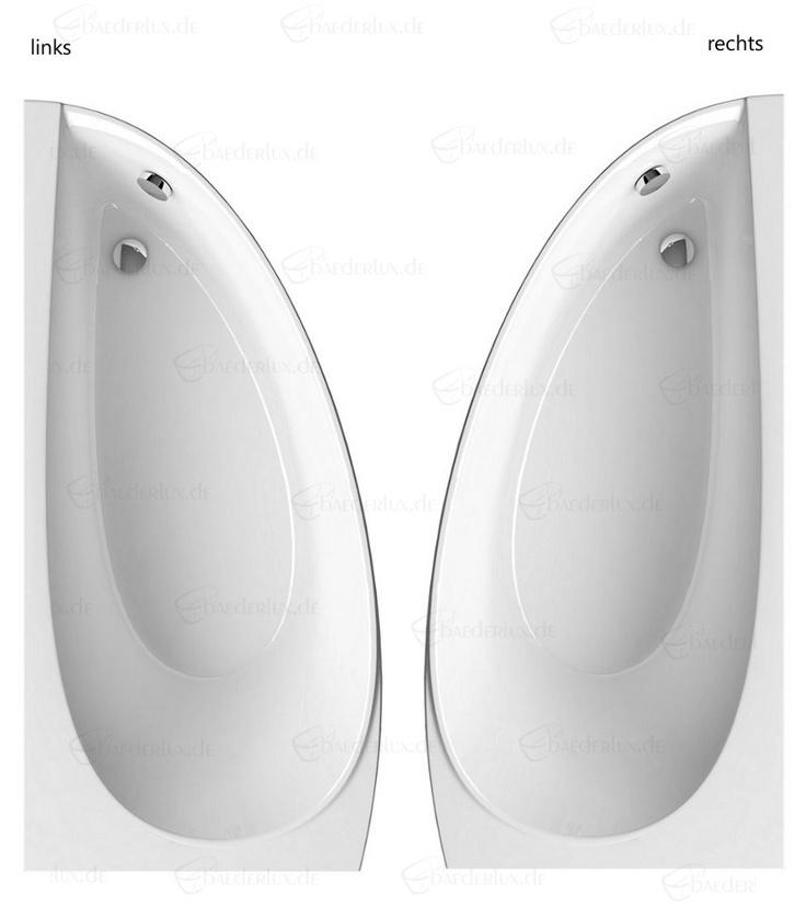 Raumsparbadewanne links oder rechts Avocado in sehr schönem Design.