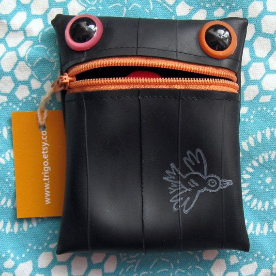 Tire Coin Purse  old bicycle inner tubes are free at a bicycle repair shop.......