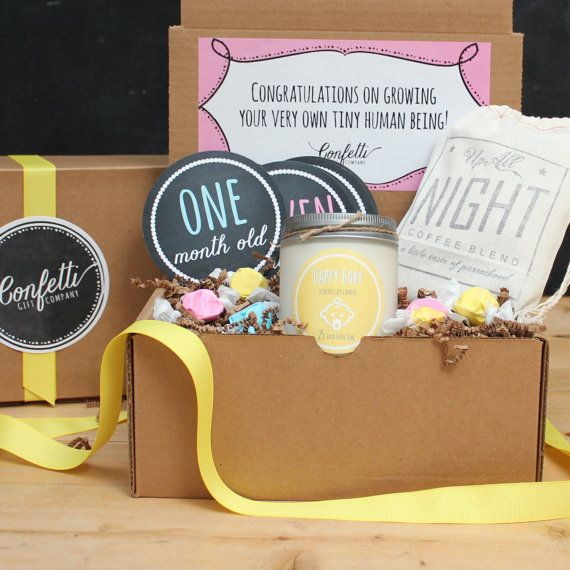 New Parents Gift Box // New Mom Gift Basket by ConfettiGiftCompany