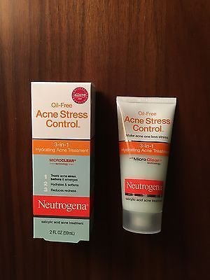 Ofc its discontinued >___> now it's $50 instead of $10 - new Neutrogena Oil-Free Acne Stress Control 3-in-1 Hydrating Acne Treatment