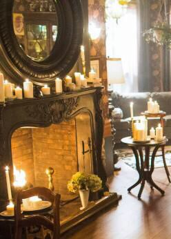 Love this fireplace so much, dream to have! Would want in my dining room. From Lifetimes - Witches of East End