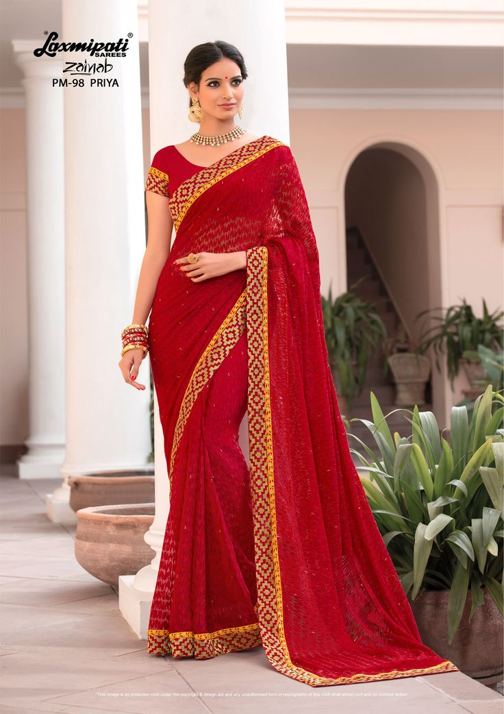 Buy this magnificent red #embroidered #brasso #party_wear #stone_work #saree and bhagalpuri red blouse along with fancy lace border online at http://www.laxmipati.com/ #Catalogue-#Zainab #Designnumber- Zainab 98 #Price - ₹ 2917.00 #ColorfulSarees #CashOnDelivery #OrderOnline #FreeDelivery #Freeshipping #FreeHomeDelivery #manufacturer #retailer #ecommerce #onlineservices #Festival #WorldWideDelivery #Shopnow #HappyShopping #India #Zainab0317