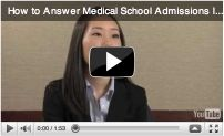 Med school interview - great advice.
