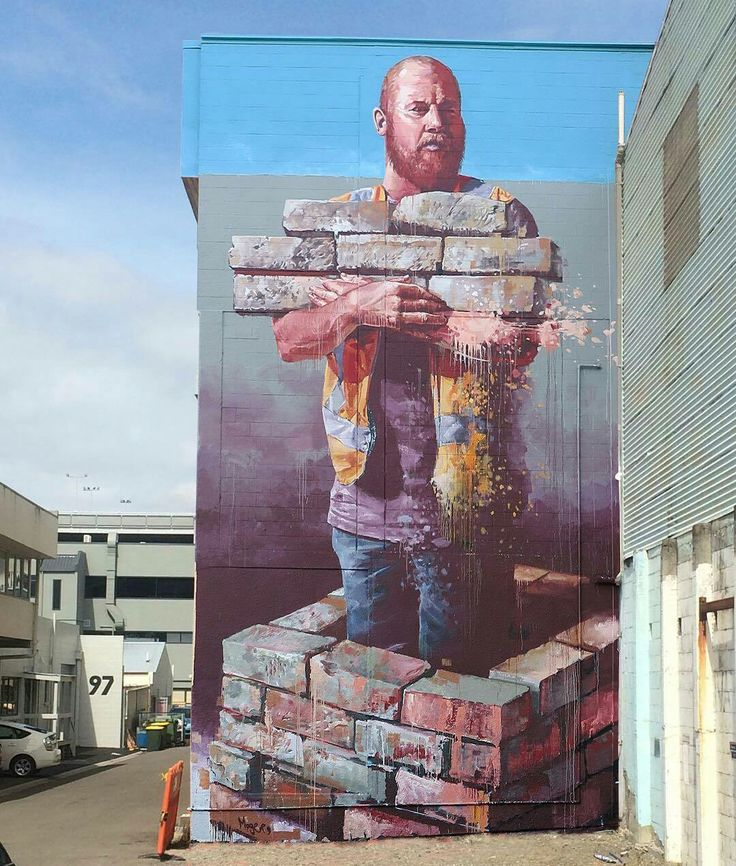Street Art by Fintan Magee, located in Tauranga, New Zealand