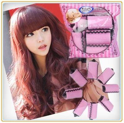 Magic Hair Sponge roller stick emperorship sleeping haircurler 6 pcs per bag easy to make hair natural wave, hair stick curler