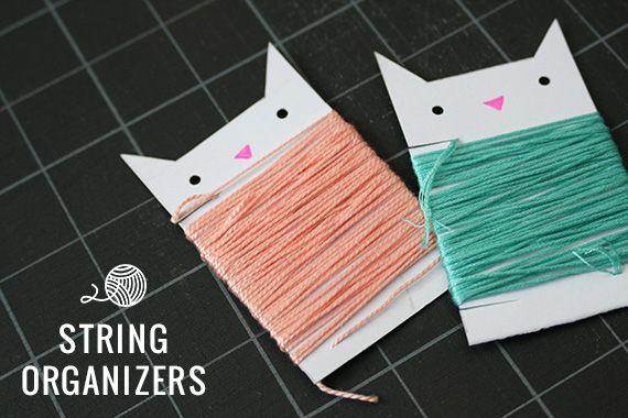 DIY string organizers