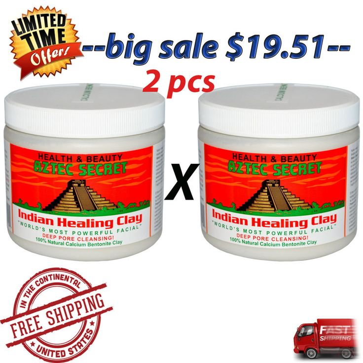 --2 pcs-- clay indian healing aztec secret pore cleansing deep Aztec Secret Indi