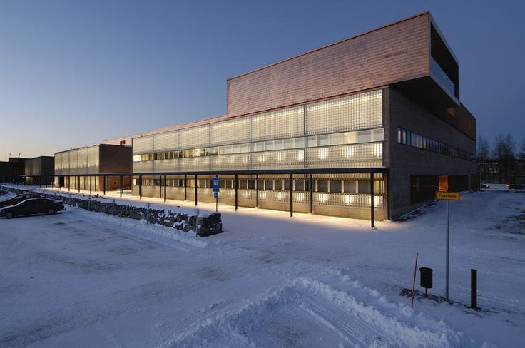 UEF - Joensuu campus, Aurora building, winter