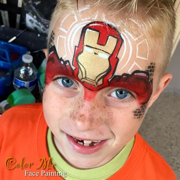 Iron Man Face Painting - Vanessa Mendoza Color Me Face Painting