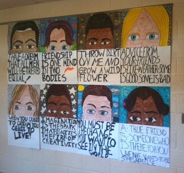 middle school self portraits and quotes (the link doesn't work, but I like what this looks like!)