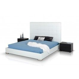 Francis - Modern White Leather Bed - 690.0000