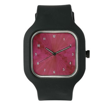 Shattered In Magenta Clock Face Watch