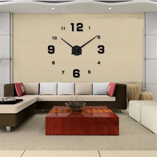 Horloge Murale Moderne Et Contemporaine Cette Horloge Xxl 80cm S Integre Parfaitement Dans Votr Horloge Murale Grandes Horloges Murales Decoration Maison
