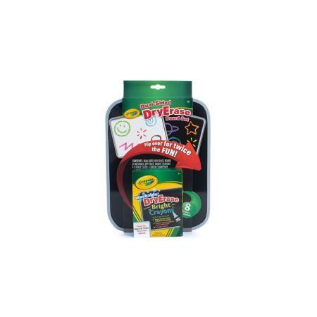 Crayola Двусторонняя доска для рисования Dry Erase, Crayola  — 1650р.  На двусторонней доске для рисования Dry Erase от знаменитого бренда Crayola (Крайола) ребенок будет с удовольствием рисовать входящими в комплект восковыми мелками. Яркие цвета мелков помогут вам создать свой маленький личный шедевр. Кроме того, вместе с доской и мелками в наборе – точилка для мелков и тряпочка для очистки.  Доска и мелки созданы по новой технологии Dry Erase от Crayola (Крайола), которая предполагает…
