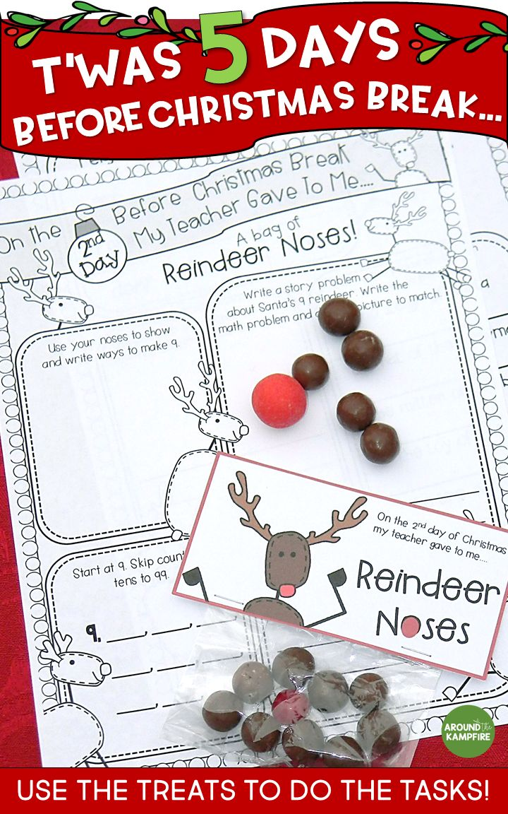 Need something to keep your first or second graders engaged and still learning that last CraZy week before Christmas or Winter Break? See how I made a Christmas break countdown anchor chart and surprised my students with simple daily gift/treats each day. They use the treats to do the tasks! Worked like a charm! Ideal for the last week before break in 1st and 2nd grade. #firstgrade #secondgrade #christmascountdown #thirdgrade