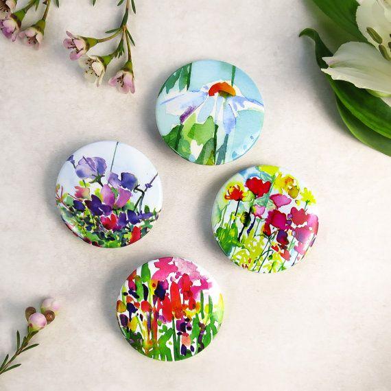Midsummer Flower Badge set