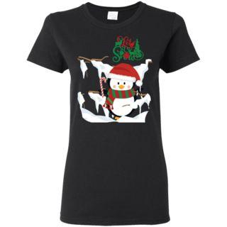 Let It Snow Penguin Christmas - Novelty Ladies'Shirt