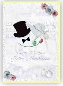 BIGLIETTO AUGURI WEDDING MATRIMONIO SPOSI GREETING CARDS CARTOLINA PARTY