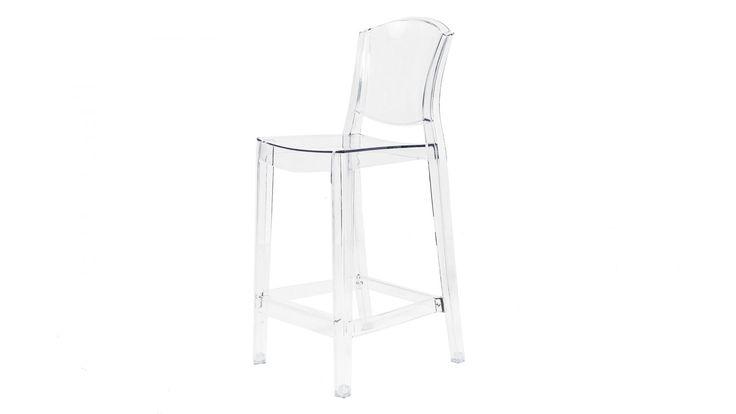 Transparent Schäfern plaststol i polykarbonat. Stol, barstol, bar, hög, plast, polykarbonat, kök, vardagsrum, hall, sovrum, inredning, möbler. http://sweef.se/stolar/321-schafern-barstol-i-polykarbonat.html