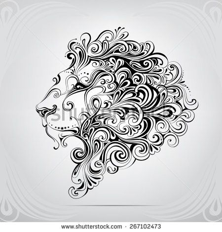 the head of a lion in an ornament tattoo pinterest. Black Bedroom Furniture Sets. Home Design Ideas