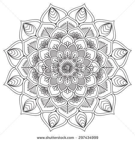 mandala vintage decorative elements oriental pattern vector illustration islam arabic. Black Bedroom Furniture Sets. Home Design Ideas