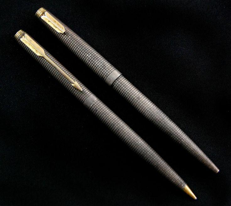 2pc Lot Vintage Parker Pen & Pencil Set in Sterling Silver NO RESERVE