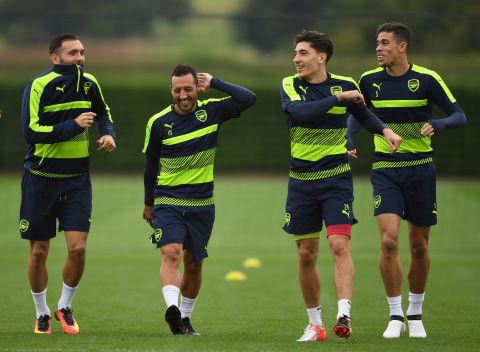 Arsenal are enjoying themselves on the pitch at the moment (Picture: Getty)  Read more: http://metro.co.uk/2016/09/27/pictures-arsenal-welcome-carl-jenkinson-back-to-training-ahead-of-fc-basel-game-6156094/#ixzz4LT61KVaZ @TheArsenal #Arsenal #AFC #COYG #Gooners #Gunners #UCL