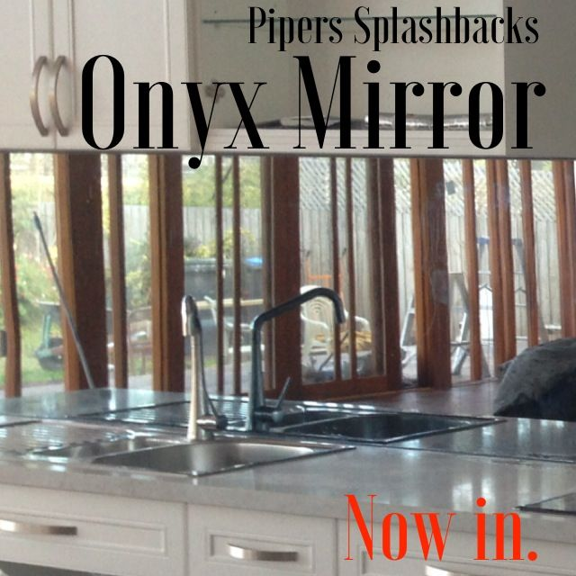 Onyx Mirror Pipers latest addition to the glass splashback range! A true reflection of style!