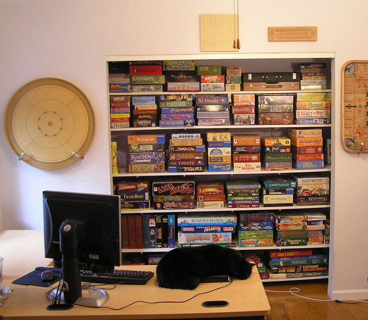 10 best images about board game storage on pinterest for Game storage ideas