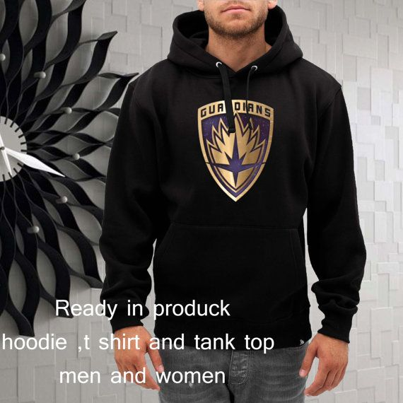 the guardians of galaxy pin logo hoodie  size by gajeshop on Etsy