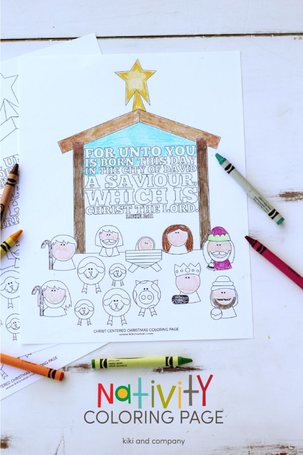 A Free Printable Of Nativity Coloring Page That You Can Use At Christmas Dinner
