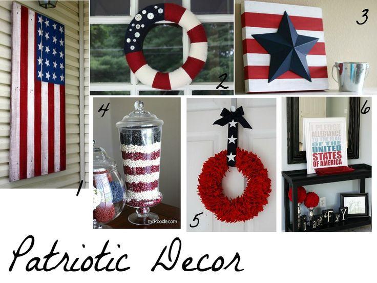 Dream Home DIY: Patriotic 4th of July Ideas.