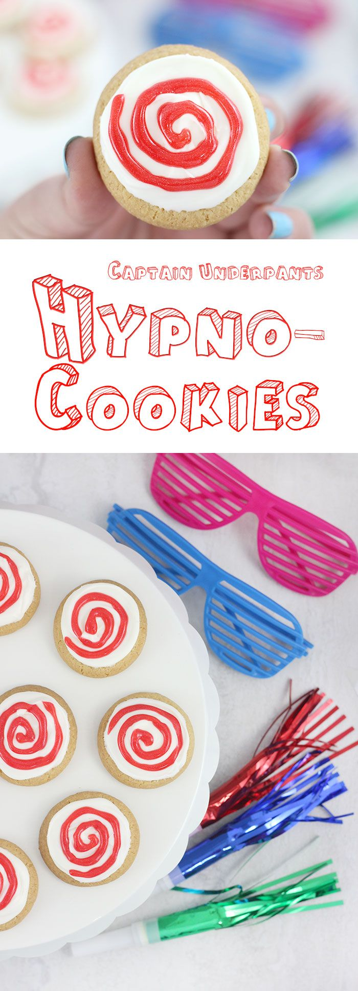 Captain Underpants Movie Party Ideas. DIY Superhero Cups, Hypno Cookies. DIY with Tampico. #ad #UnbottledLaffter #TampicoJuice #DrinkTampico