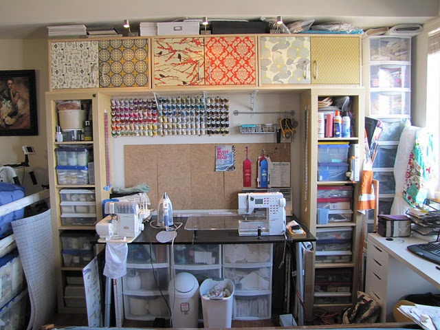 IKEA Hacks for Sewing Room Craft Room