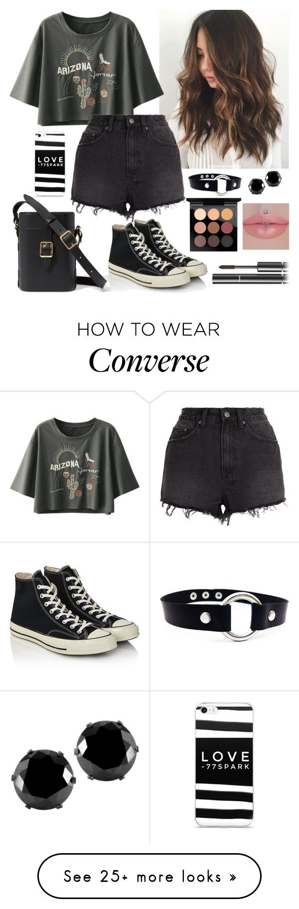 """Untitled #598"" by alemcboss on Polyvore featuring Ksubi, Converse, West Coast Jewelry, MAC Cosmetics and Chanel"