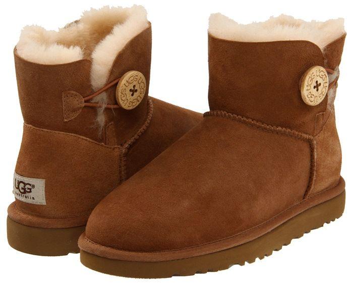 ugg boots mini bailey button chestnut