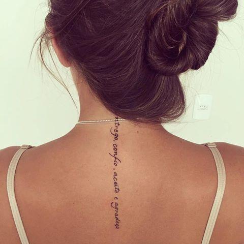 Resultado de imagem para entrego confio aceito e agradeço tatuagem