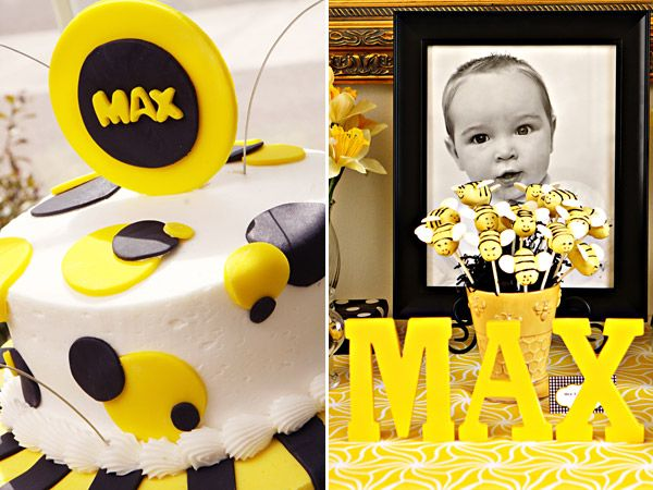Its Party Time Creative Ideas For A First Birthday Bee Cake Bumble