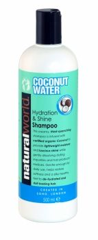 NATURAL WORLD COCONUT WATER HYDRATION & SHINE SHAMPOO 500ML
