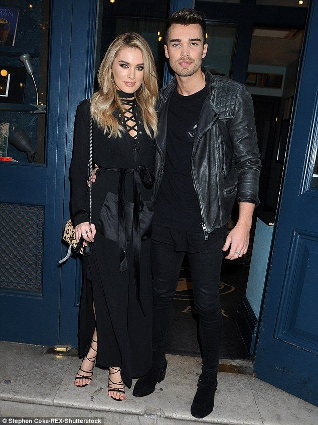 Loved-up:They never fail to turn heads when they step out. But Josh Cuthbert and fiance C...