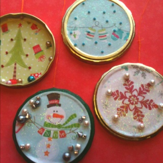 Christmas Ornament Recycled Crafts