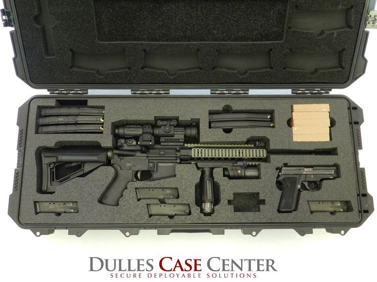 Custom Gun Case…a Storm 3100 case with custom foam for a CMMG AR15 and a Sig Sauer P229 Find our speedloader now! http://www.amazon.com/shops/raeind