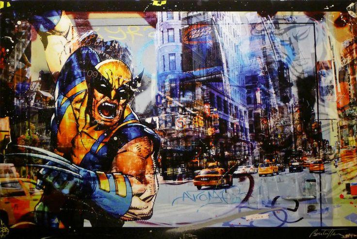Wolverine door Cédric Bouteiller - Te huur/te koop via Kunsthuizen.nl #art #streetart #mixedmedia #cedricbouteiller #kunst #kunsthuizen #kunstuitleen #kunsthuisamsterdam