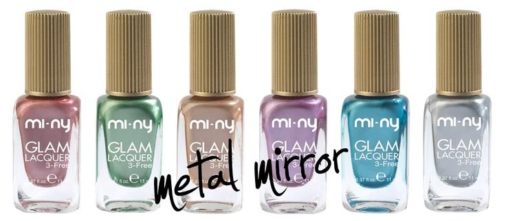 Una linea imperdibile!   Un risultato ultra luminoso con una sola passata grazie agli speciali pigmenti metallizzati e a specchio.    http://www.minycosmetics.com/colori.php?idcategoria=17  #beauty #colors #cool #fashion #girl #girl #glam #life #look #love #moda #style #stile #model #nail #nailart #nailpolish #nails #glitter #nail #outfit #shopping #trendy