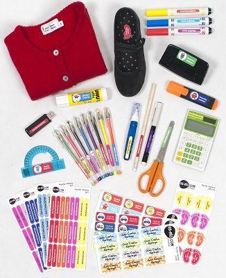 Nuestro Pack Colegio te ofrece una divertida manera de identificar las cosas de tus hijos evitando pérdidas y gastos innecesarios.