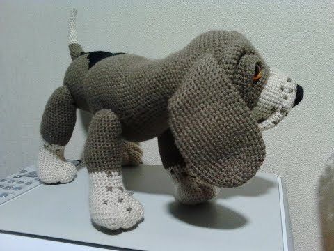 (2) Собака Бигль, ч.2. Dog Beagle, р.2. Как связать собаку крючком. - YouTube