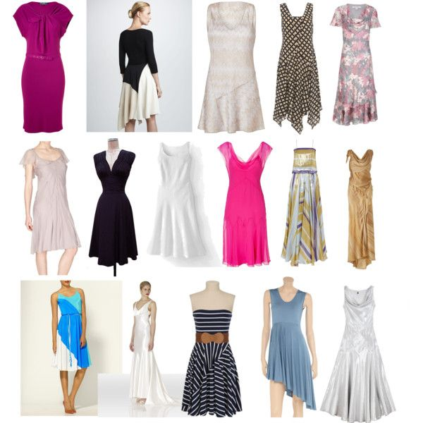 """""""SN dresses"""" by lightspring on Polyvore. Great styles for line/cut, but not necessarily for color or pattern. -thatgirl"""